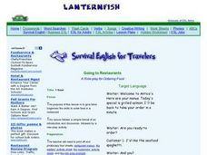 Travel English For Restaurants Lesson Plan