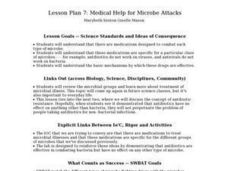 Medical Help for Microbe Attacks Lesson Plan