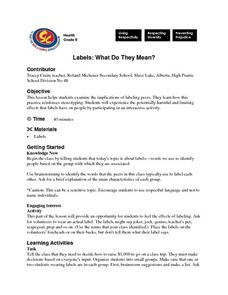 Labels: What Do They Mean? Lesson Plan