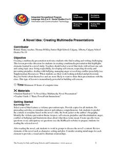 A Novel Idea: Creating Multimedia Presentations Lesson Plan