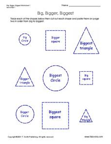 Big, Bigger, Biggest Worksheet