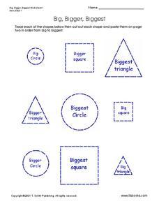 Big Bigger Biggest Lesson Plans & Worksheets Reviewed by Teachers
