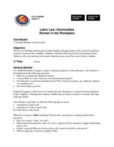 Labor Law: Intermediate Women in the Workplace Lesson Plan