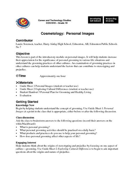 Worksheets Personal Grooming Worksheets personal grooming activities lesson plans worksheets cosmetology images