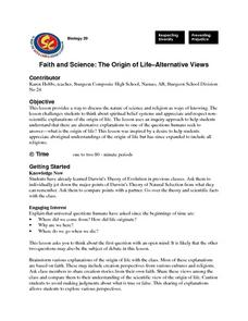 The Origin of Life: Alternative Views Lesson Plan