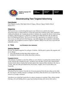 Deconstructing Teen Targeted Advertising Lesson Plan