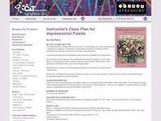 Instructors Lesson Plan for Impressionist Palette Lesson Plan