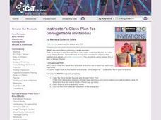 Instructors Lesson Plan for Unforgettable Invitations Lesson Plan