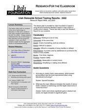 Utah Statewide School Testing Results: 2002 Lesson Plan