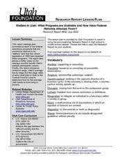 Federal Programs And Reform Lesson Plan