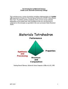 Introduction And Brief History of  Materials Science Lesson Plan