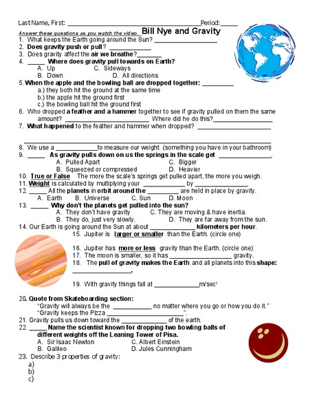 Bill Nye Lesson Plans Worksheets Lesson Planet