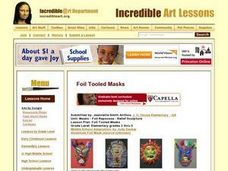Foil Tooled Masks Lesson Plan