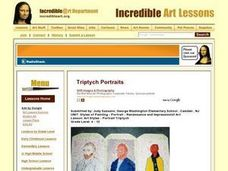 Art Styles - Portrait Triptych Lesson Plan
