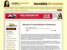 Advocacy for Use of Sketchbooks in Elementary Lesson Plan