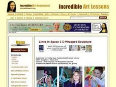 Lines in Space 3-D Wrapped Sculpture Lesson Plan