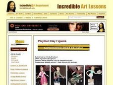 Baked Polymer Clay 3D People Portraits Lesson Plan