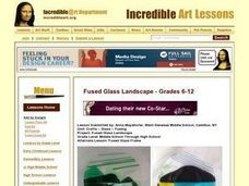 Fused Glass Landscape Lesson Plan