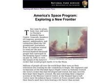 America's Space Program: Exploring a New Frontier Lesson Plan