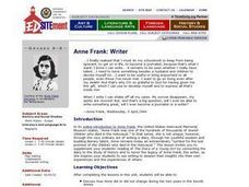 Ane Frank: Writer Lesson Plan