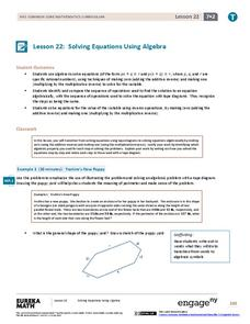 Solving Equations Using Algebra Lesson Plan