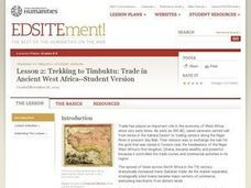 Trekking to Timbuktu: Trade in West Africa (Lesson 2) Lesson Plan