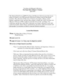 The Many Hats of Harry S Truman Lesson Plan