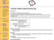 """Virtual"" Model United Nations Day Lesson Plan"