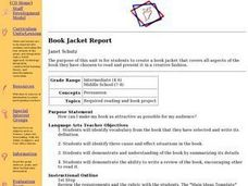 Book Jacket Report Lesson Plan