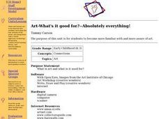 Art-What's it good for?--Absolutely everything! Lesson Plan