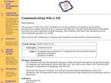 Communicating Who I Am Lesson Plan