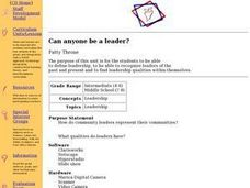 Can Anyone Be a Leader? Lesson Plan
