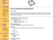 Can you find the transportation? Lesson Plan
