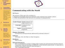 Communicating with the World Lesson Plan