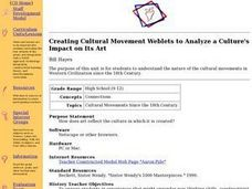 Creating Cultural Movement Weblets to Analyze a Culture's Impact on Its Art Lesson Plan