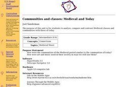 Social Studies: Medieval and Contemporary Class Structures Lesson Plan