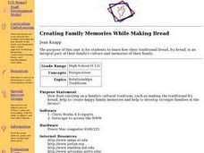 Creating Family Memories While Making Bread Lesson Plan