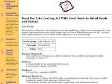Food For Art-Creating Art With Food Such As Dried Seeds and Pastas Lesson Plan