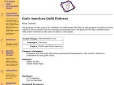 Early American Quilt Patterns Lesson Plan