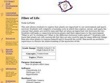 Biology: Plants - The Fiber of Life Lesson Plan