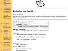 Exploring New Frontiers Lesson Plan
