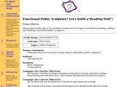 "Functional Public Sculpture? Let's build a""Reading Wall""! Lesson Plan"
