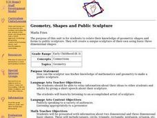 Geometry, Shapes and Public Sculpture Lesson Plan