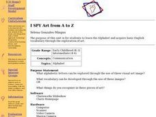 I SPY Art from A to Z Lesson Plan