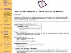 Growth and Change as it Occurs in Plants and Flowers Lesson Plan