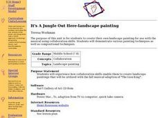 It's A Jungle Out Here-Landscape Painting Lesson Plan