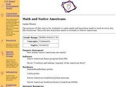 Math and Native Americans Lesson Plan