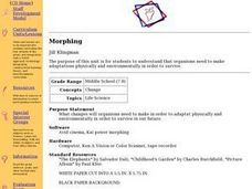 Morphing Lesson Plan