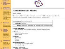 Masks: History and Artistry Lesson Plan