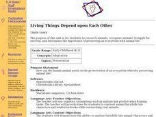 Living Things Depend upon Each Other Lesson Plan